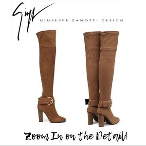 GIUSEPPE ZANOTTI Brown Over the Knee Boots - NEW